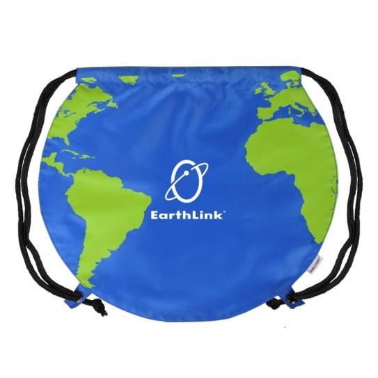 globe drawstring bag