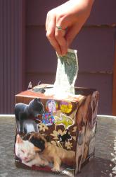 Kleenex Tzedakah Box