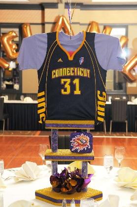 Sports jersey centerpiece