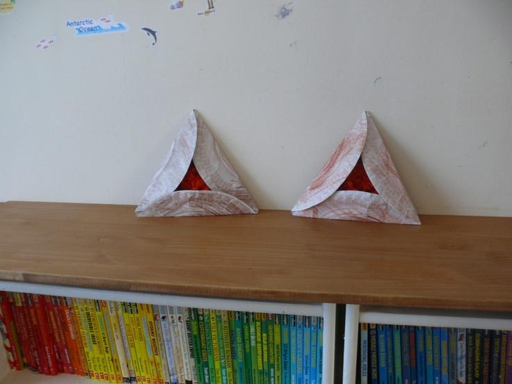 Paper Plate Hamantaschen